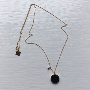 18k rose gold Ginette NY black onyx necklace